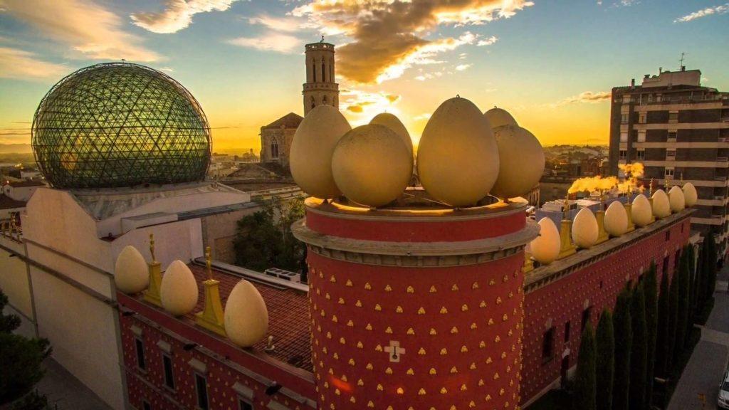 Vistes del museu Dalí de figueres, catalunya